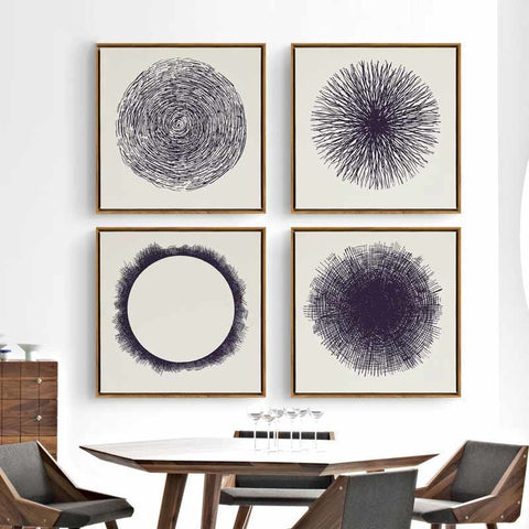 Nordic Style Creative Circle Modern Decor Canvas Wall Art HD Print