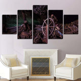 5 Panel Dead Men Pirates Modern Decor Canvas Wall Art HD Print