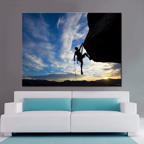 Outdoor Rock Climbing Modern Decor Canvas Wall Art HD Print