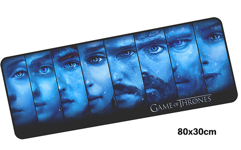 Game of Thrones Blue Cast Large Mouse Pad 800x300mm Best PC Gaming Pad HD Print