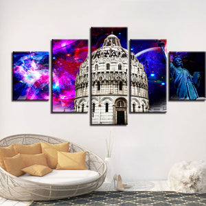 5 Panel Piazza dei Miracoli Modern Décor Wall Art Canvas HD Print