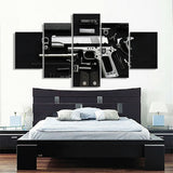5 Panel Deconstructed Colt 1911 Modern Décor Wall Art Canvas HD Print