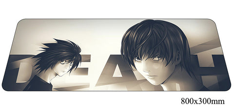Death Note Two Characters Large Mouse Pad 800x300X2mm Best PC Gaming Pad HD Print