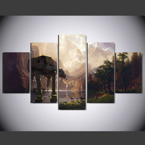5 Panel Movie Star Wars Character Modern Home Decor Canvas Wall Art HD Print