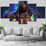 5 Piece Space Game Character Modern Canvas Wall Art HD Print