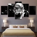 5 Panel Star Wars Stormtrooper Modern Decor Canvas Wall Art HD Print