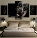 5 Panel Framed Female Zombie Modern Décor Canvas Wall Art HD Print