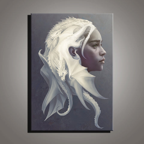 Game of Thrones Dragon Mother Modern Décor Wall Art Canvas HD Print