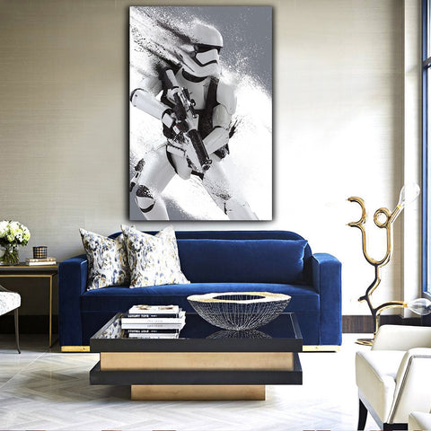 Star Wars First Order Stormtrooper Modern Décor Wall Art Canvas HD Print