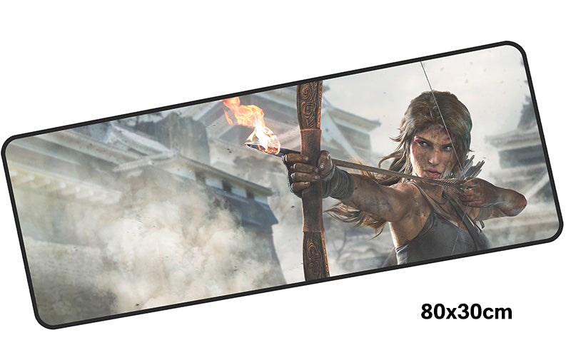 Tomb Raider Lara in Action Large Mouse Pad 800x300mm PC Gaming Pad HD Print