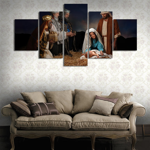 5 Panel Epiphany Theme Home Decor Paintings Canvas Wall Art HD Print
