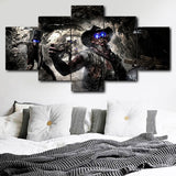 5 Panel Framed Wild West Zombies Modern Décor Canvas Wall Art HD Print