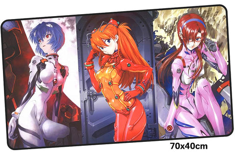 Neon Genesis Evangelion Three Girls Large Mouse Pad 700x400mm Best PC Gaming Pad HD Print