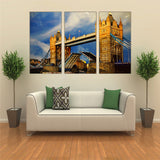 Canvas Wall Art Pictures HD Prints Poster 3 Pieces London City Tower Bridge Landscape Paintings Living Room Home Decor Framework