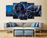 5 Panel Framed Black Panther Movie Poster Modern Décor Canvas Wall Art HD Print