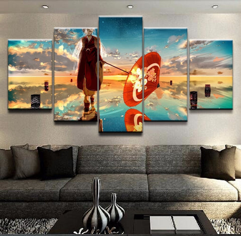 5 Panel Anime Vocaloid Cloud Dress Girl Modern Décor Canvas Wall Art HD Print