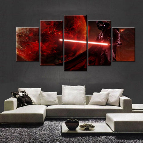 5 Panel Movie Star Wars Character Modern Decor Canvas Wall Art HD Print