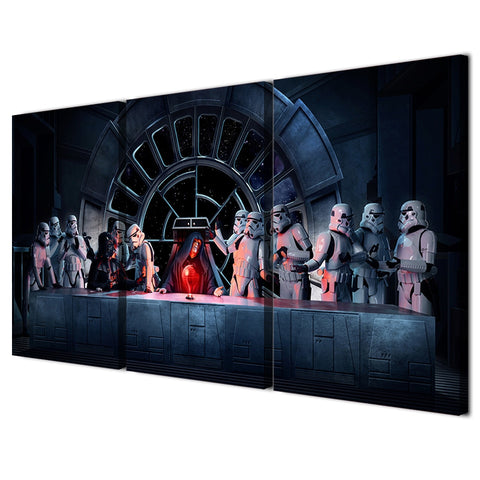 3 Panel Star Wars Stormtrooper Last Super Modern Decor Canvas Wall Art HD Print