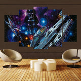 5 Panel Star Wars A New Hope Millennium Falcon Canvas