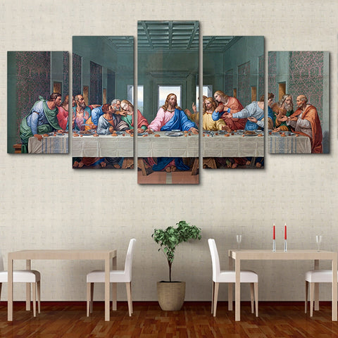 5 Panel The Last Supper Modern Décor Wall Art Canvas HD Print