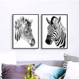 Nordic Style Love Zebra Black White Modern Decor Canvas Wall Art HD Print