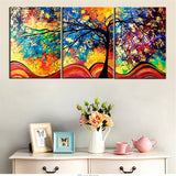 3 Piece Abstract Tree Modern Decor Canvas Wall Art HD Print
