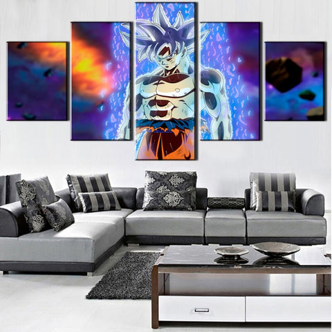 Canvas Pictures Home Decor 5 Pieces Dragon Ball Z Super Goku Poster Prints Anime Cartoon Painting Modular Living Room Wall Art