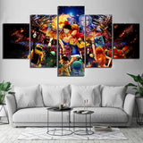 Canvas Pictures Living Room Home Decor 5 Pieces One Piece Painting Modular Print Abstract Anime Characters Poster Wall Art Frame