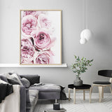 Nordic Watercolor Roses Love Modern Decor Canvas Wall Art HD Print