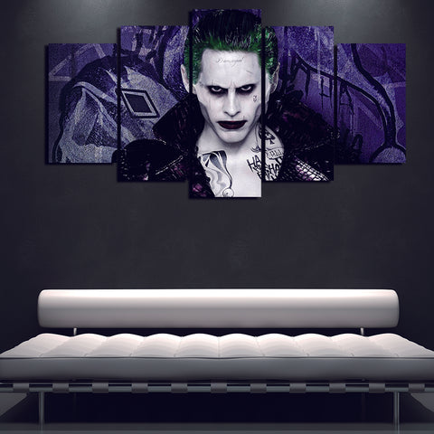 5 Panel Movie Joker Modern Décor Wall Art Canvas HD Print