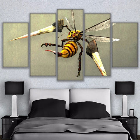 Modular Canvas Paintings Frame Home Decor 5 Pieces Beedrill Bee Poster HD Printed Animal Bumblebee Pictures Living Room Wall Art