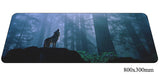 Assorted Wolf Moon Large Mouse Pad 800x300mm Best PC Gaming Pad HD Print