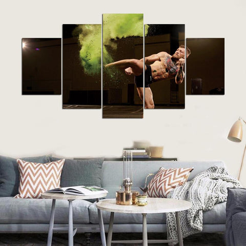 5 Panel Conor McGregor Modern Decor Canvas Wall Art HD Print