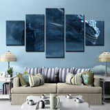5 Panel Framed GOT Night King & Dragon Modern Décor Canvas Wall Art HD Print