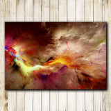 Abstract Psychedelic Space Nebula Wall Art