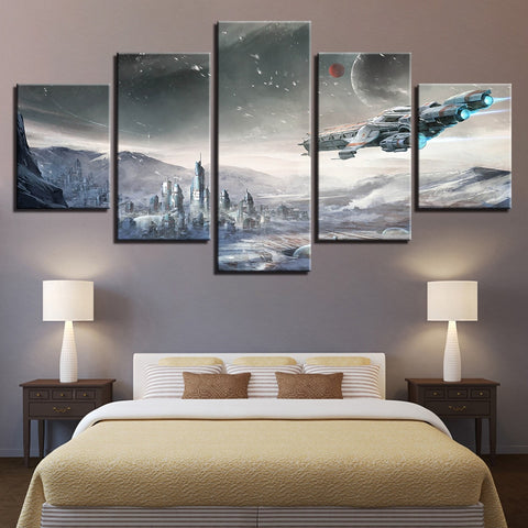 5 Panel Star Wars Modern Decor Canvas Wall Art HD Print