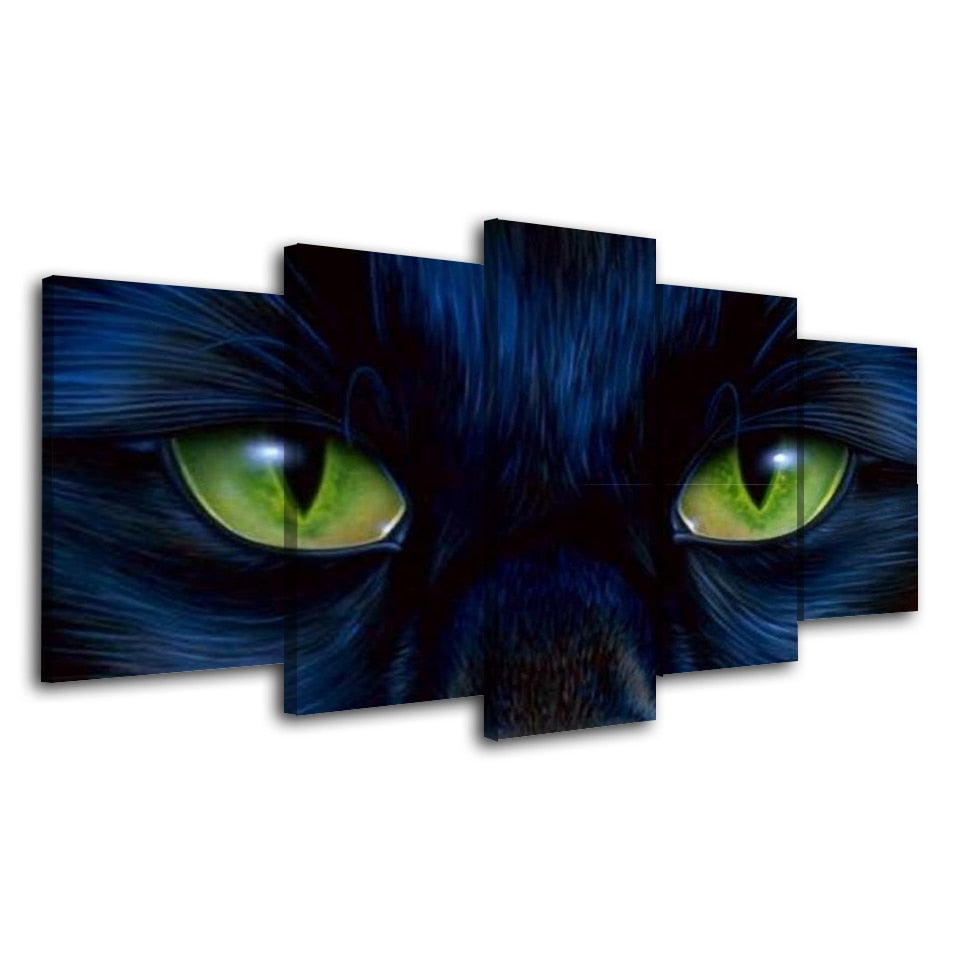 5 Panel Framed Cat Eyes Modern Décor Canvas Wall Art HD Print