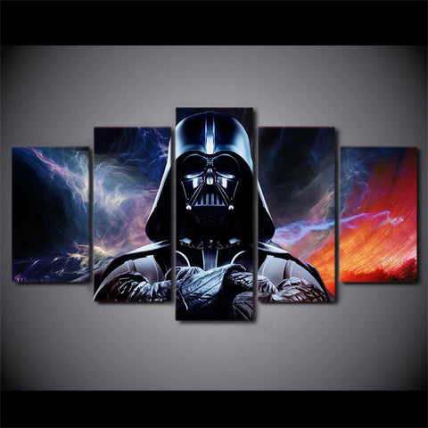 5 Panel Star Wars Darth Vader Abstract Painting Modern Decor Canvas Wall Art HD Print