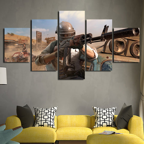 5 Panel PUBG Stimulate the Battlefield Modern Décor Wall Art Canvas HD Print