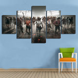 5 Panel PUBG All Players Ready! Modern Décor Wall Art Canvas HD Print