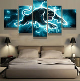 5 Panel Framed NRL Penrith Panthers Modern Décor Canvas Wall Art HD Print