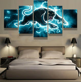 5 Panel Penrith Panthers Modern Décor Canvas Wall Art HD Print.