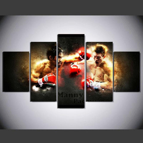 5 Panel Philippines Boxers King Of Fighters Manny Pacquiao Modern Décor Canvas Wall Art HD Print.