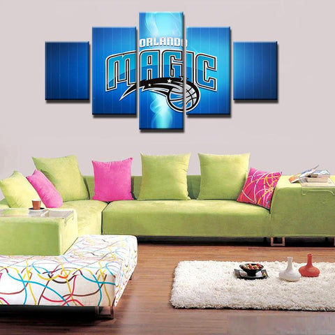 5 Panel Orlando Magic Modern Décor Canvas Wall Art HD Print.