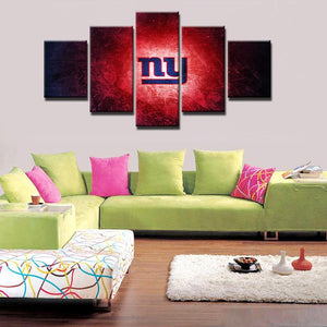 5 Panel New York Giants Modern Décor Canvas Wall Art HD Print.