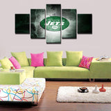 5 Panels New York Jets Modern Décor Canvas Wall Art HD Print.