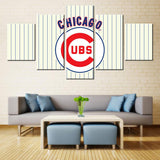 5 Panel Chicago Cubs Sports Modern Décor Canvas Wall Art HD Print.
