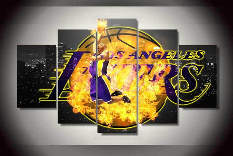 Panel LA Lakers Modern Décor Canvas Wall Art HD Print.
