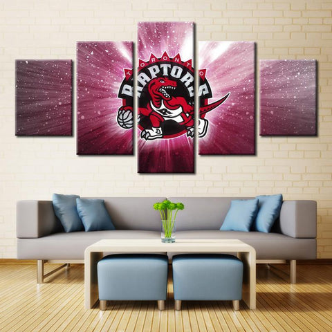 5 Panel Toronto Raptors Modern Décor Canvas Wall Art HD Print.