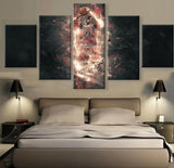 5 Panel Jimmy Butler Modern Décor Canvas Wall Art HD Print.